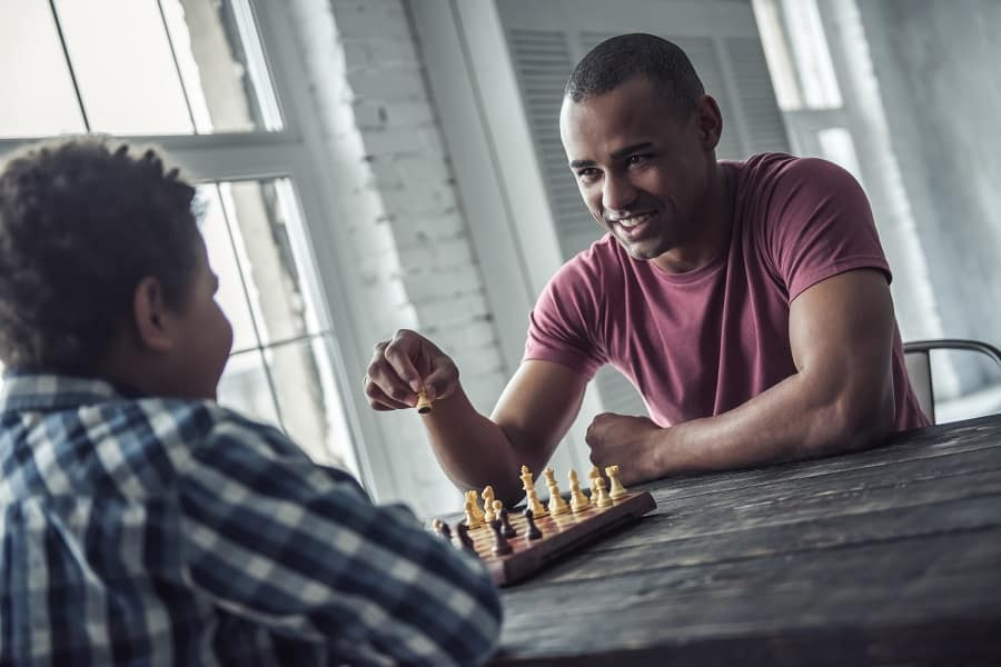 teaching chess piece moves to kids